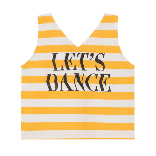 Bobo choses yellow stripe dance girls tank top