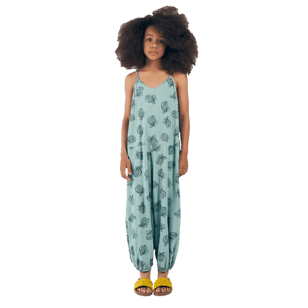 Bobo choses blue pineapple girls jumpsuit