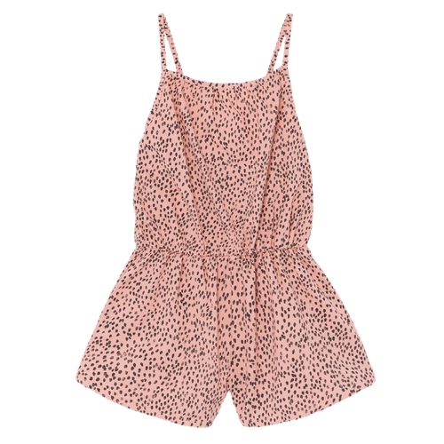 Bobo choses pink leopard print girls romper
