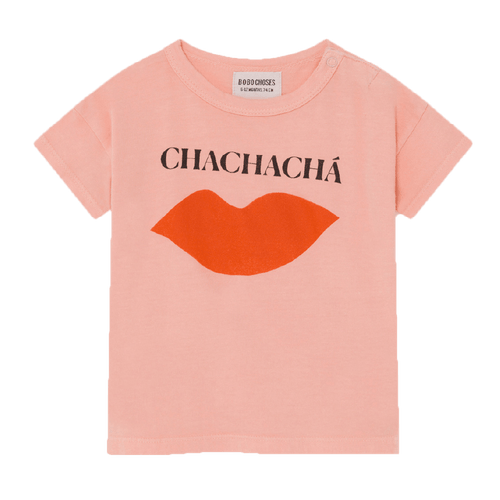 Bobo choses pink short sleeve chacha girls tee