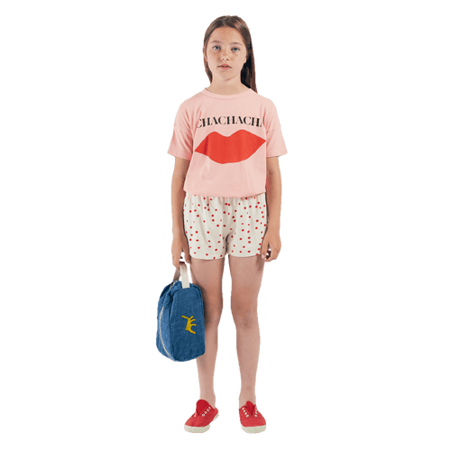 Bobo choses pink short sleeve chacha girls t-shirt