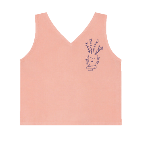 Bobo choses pink flowers girls tank top