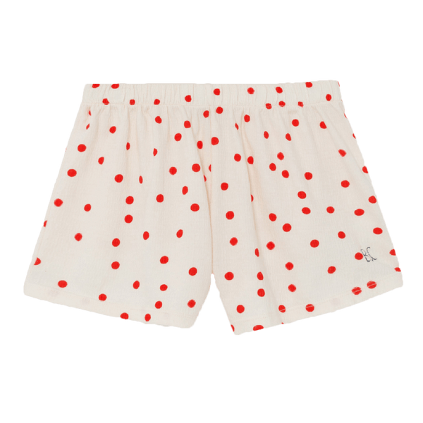 Bobo choses cream and red dot girls shorts