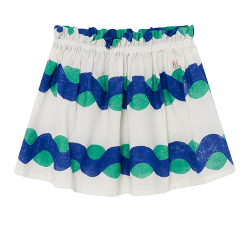 Bobo choses blue and green print girls skirt