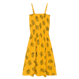 Bobo choses yellow pineapple knit girls maxi dress