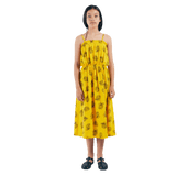 Bobo choses yellow pineapple knit girls long dress