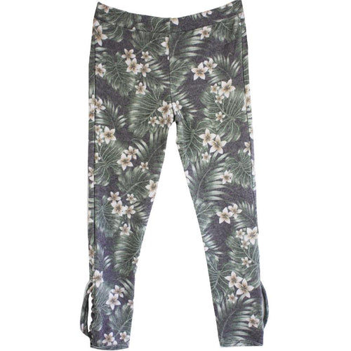 Chaser Kids Floral Fleecy Girls Leggings - Little Skye Children's Boutique