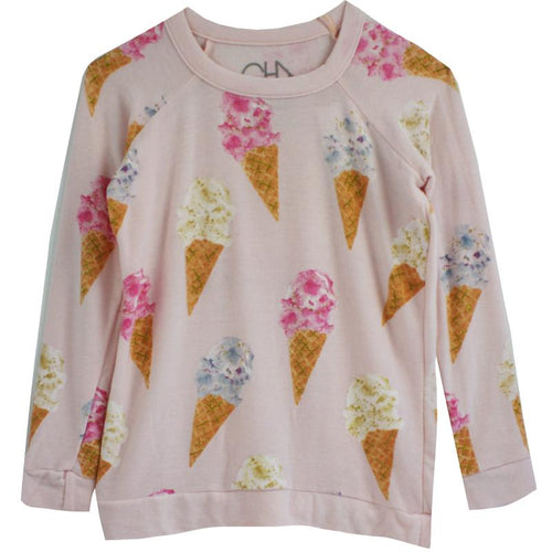 Girls ice cream print pullover sweatshirt