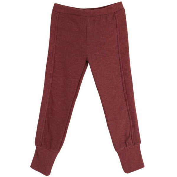 Chaser burgundy girls leggings