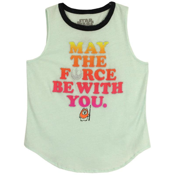 Star Wars girls shirt with may the force be with you and Ewok