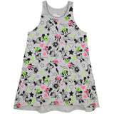Minnie Mouse printed girls sleeveless dress
