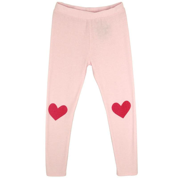 Chaser Kids pink girls leggings with heart knees