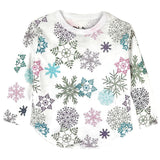 Chaser Snowflakes Vintage Jersey Girls Tee