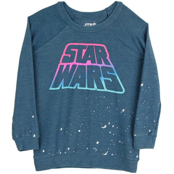 Star Wars sweatshirt for girls in navy by Chaser Kids