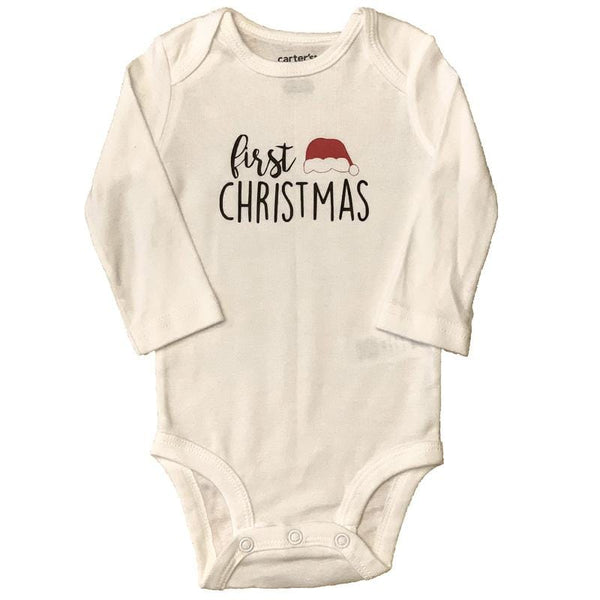 First Christmas Graphic Baby Onesie