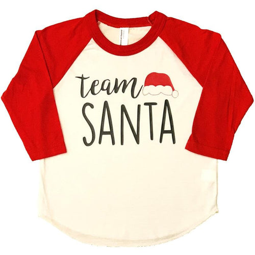 Team Santa Raglan Graphic Kids Tee