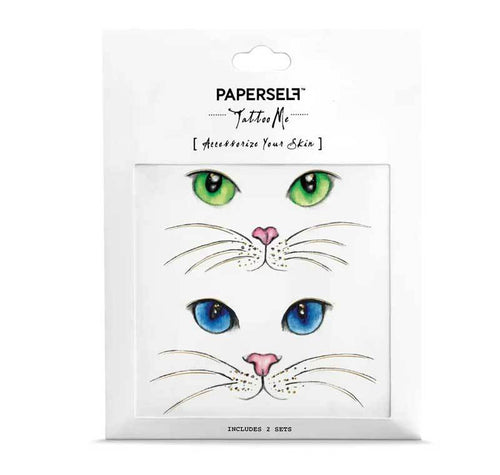 PAPERSELF Cat Eyes Temporary Tattoos Stickers