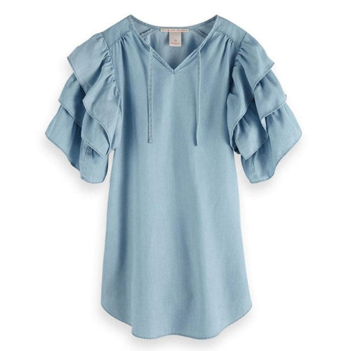 Scotch R'Belle Tencel Ruffle Sleeve Girls Dress