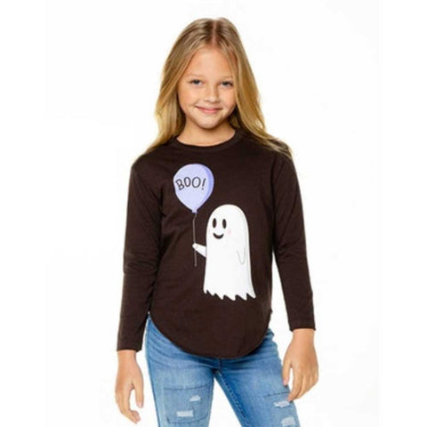 Chaser Kids BOO Halloween Girls Tee