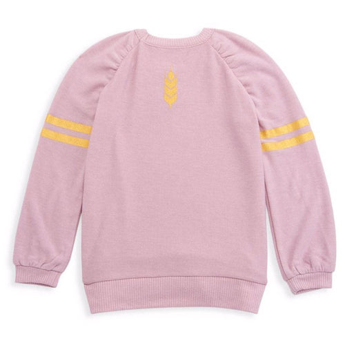 Chaser Frozen 2 Anna pink and gold long sleeve girls sweatshirt