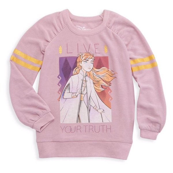 Chaser Frozen 2 Anna pink fleece long sleeve girls sweatshirt
