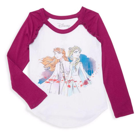 Chaser Kids Frozen 2 Elsa and Anna Girls T Shirt