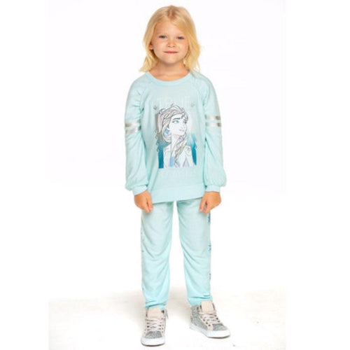 Chaser Frozen 2 light blue Elsa girls sweatpants