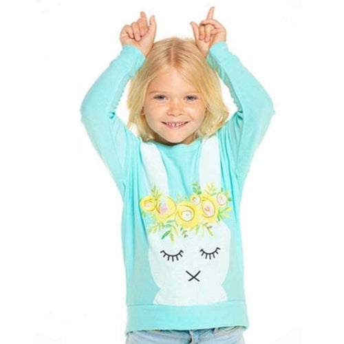 Chaser kids bunny rabbit girls sweatshirt