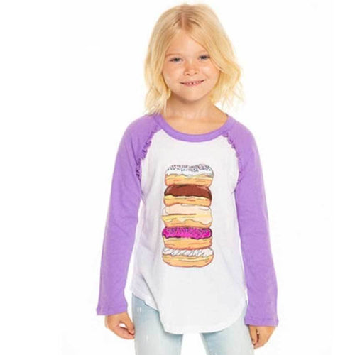 Chaser Kids donut baseball girls t shirt