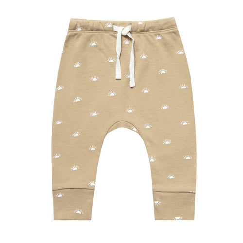 Baby honey patterned drawstring knit pants