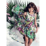 Paper wings jungle print girls maxi dress