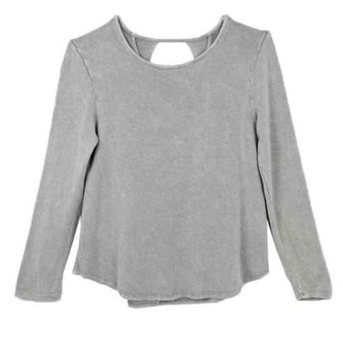 Paper Cranes Grey Open Back Top