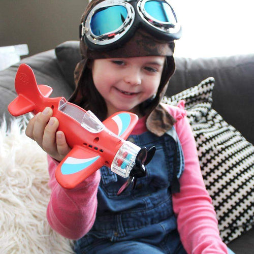 Fat brain red toy plane for girls and boys