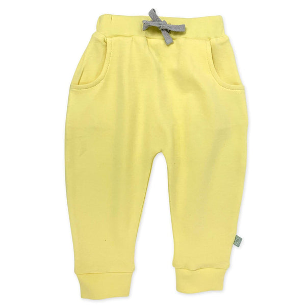 Finn and Emma yellow knit baby pants