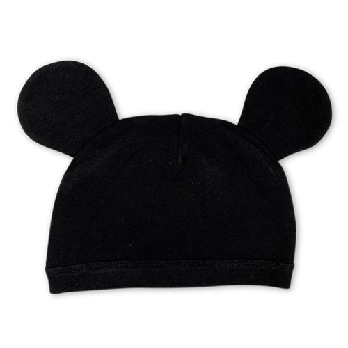 Finn + Emma Baby Boy Black Mickey Mouse Ears Hat