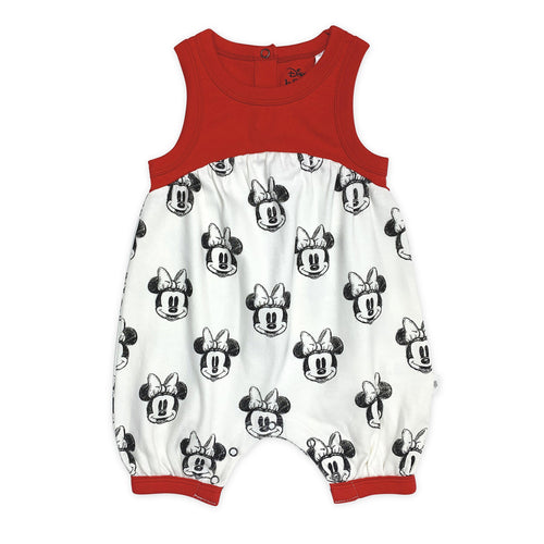 Finn + Emma Baby Girl Minnie Mouse Sleeveless Organic Romper