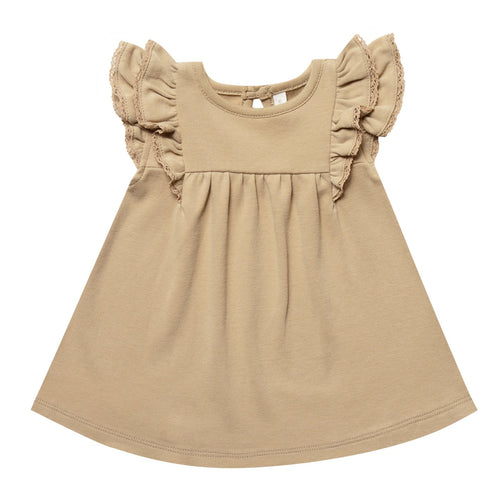 Baby girl honey ruffle organic dress