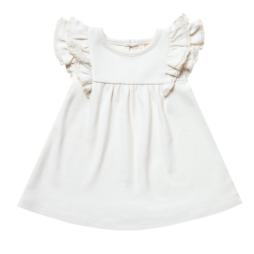 Quincy Mae Ivory Flutter Baby Dress