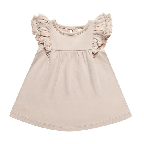 Baby girl rose flutter baby dress