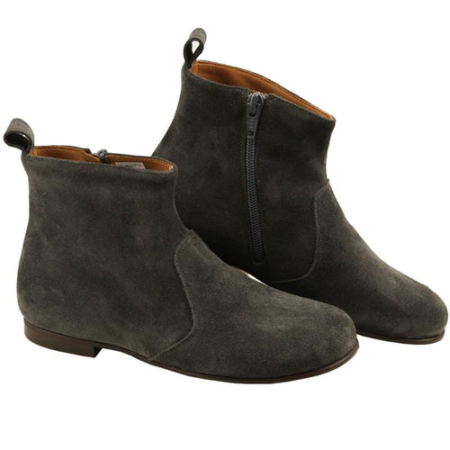 PePe Boots Girls grey suede ankle boots