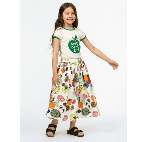 Molo girls bright fruit print girls long skirt