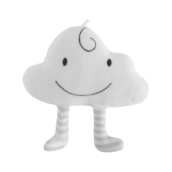 White cloud with face and legs plush baby toy