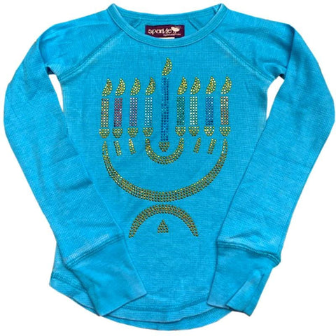 Sparkle by Stoopher Hanukkah Tee - Blue