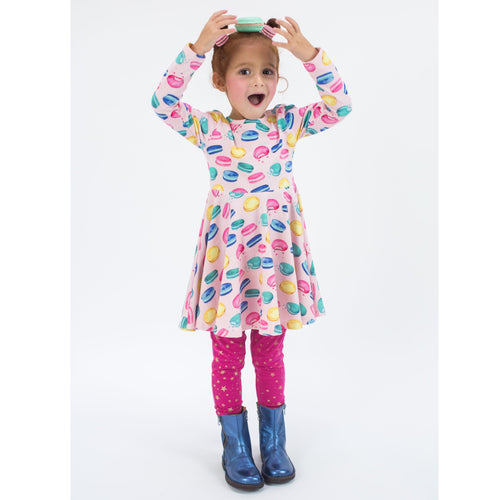 Girls macaroon twirl dress