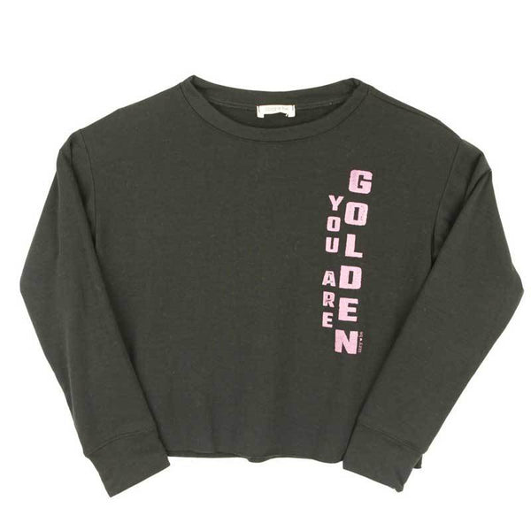 Izzy Be golden tween girl sweatshirt grey
