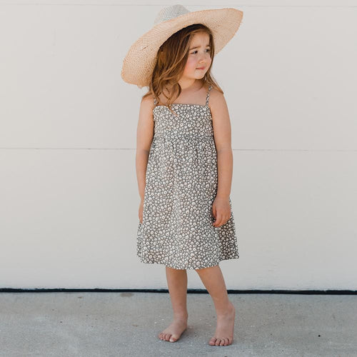 Rylee and cru green floral maxi dress for girls
