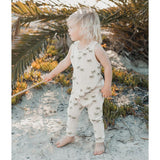 Rylee and cru sleeveless palm tree baby jumpsuit