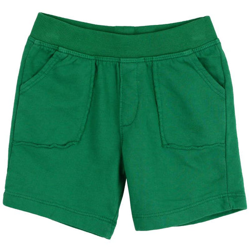 Baby boy bright green knit shorts