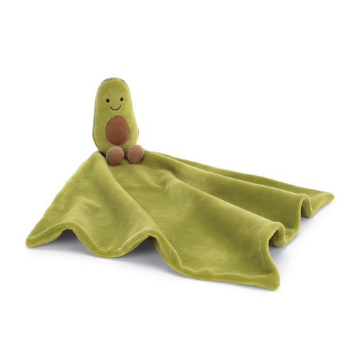 Jellycat green avocado baby soother blanket