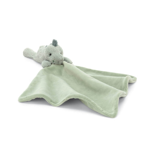 Jellycat green dinosaur baby blanket soother